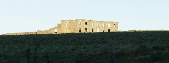 The Castle ruins - you can explore this on foot from Castleshaw.