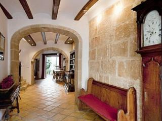 Entrance Hall looking down to inner patio