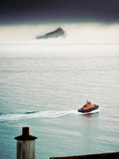 Regular view the Penlee lifeboat carrying out it's patrols