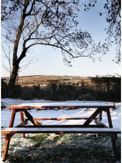 The stunning view across the countryside from the front door.