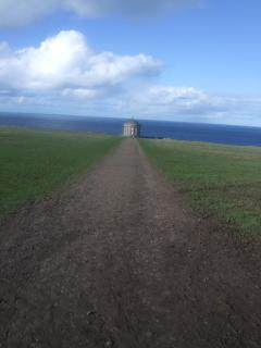 Mussenden Temple - fantastic area for the walker - pictured from the Castle ruins.