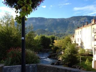 Private Riverside Deck; Enchanting House: Charm & Views in Center of Old Town!, Quillan