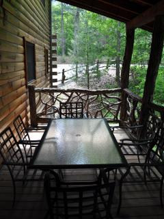 Covered Outdoor Porch with Dining Table