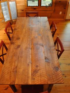 150 year old Heart of Pine Dining Table! Seats 8 easily