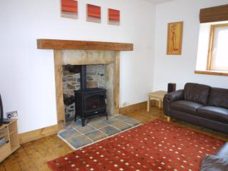 Seatown Snug, the gas stove is perfect for a romantic evening in!