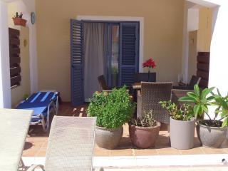 Private rear patio area