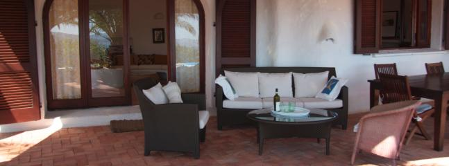 Outdoor seating on terrace