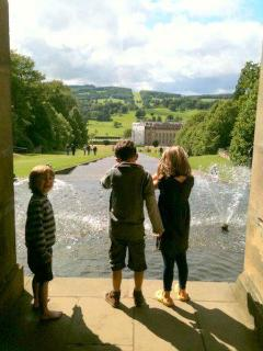 Walk down the water cascade at Chatsworth near 5* Portland House c1870