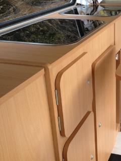 Fold down hob and kitchen sink