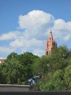 View of the Parroquia from the covered terrace.