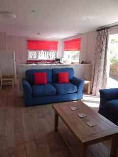Saunton Beach Villa Sitting Room / lounge with seating, TV and blu ray