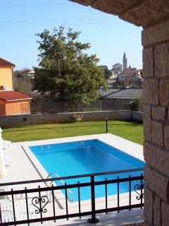 View on the pool and Kringa from terrace