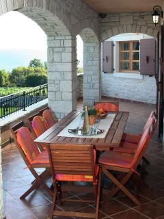 Ground terrace with al fresco dinning
