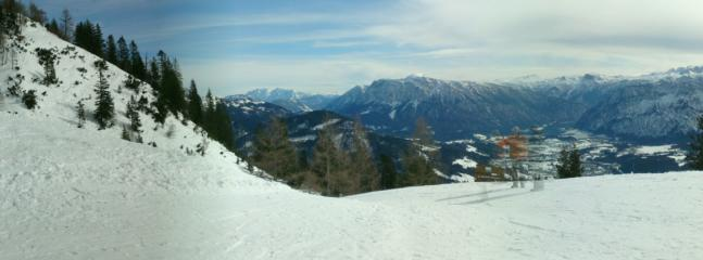 Skiing the top of the KatrinAlm, Bad Ischl