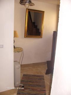 Hallway with original chestnut staircase
