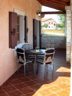 Large terrace with table