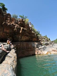 Take a day out to explore, relax on the rocks or try one of the cliff jumps at Paradise valley.