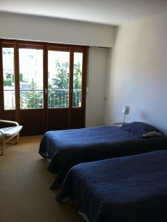 la chambre avec 2 lits simples