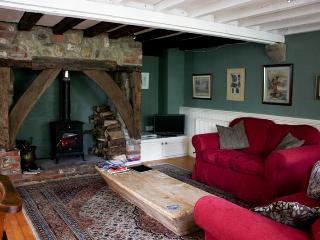Woodburning stove and sitting room