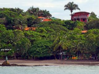 View of the villa from the ocean