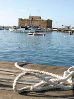 The medieval Castle in Paphos harbour.
