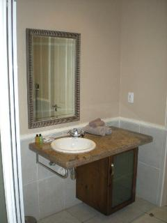Bathroom basin with granite top