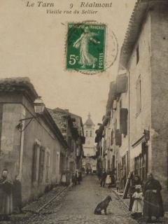 old postcard of Rue du Sellier
