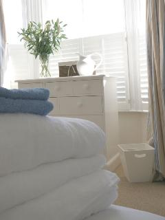 Fresh, fluffy towels and bed linen