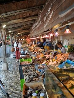 the medieval market of La Flotte