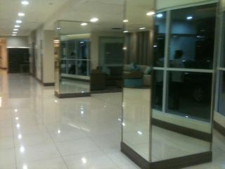 lobby area to the elevator