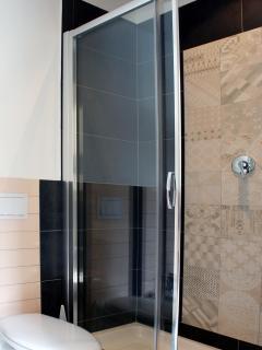 Il bagno: Box doccia e bidet.
