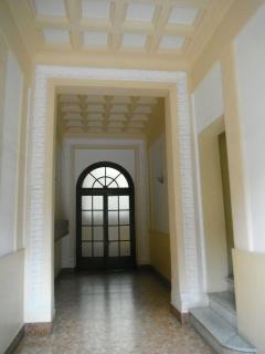 L'androne dell'ingresso all'edificio.