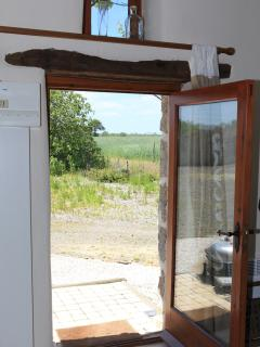 Out the rear door with views over the fields