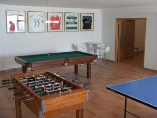 Excellent games room facility - pool/snooker, table tennis, table football, electronic darts