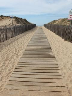 walk way down to the fantastic sandy beachs