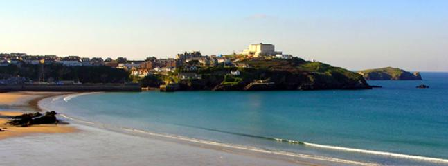 The view across Newquay Bay from Great Western beach