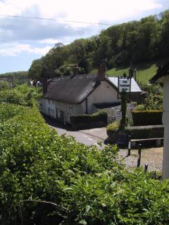 Opposite the Fountain Head view towards the cottage
