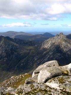 Top of 'The Saddle' looking back to 'Goatfell'