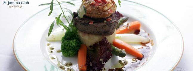Fine dining at St James' Club, Piccolo Mondo Restaurant