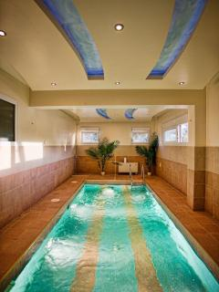 Indoor heated swimming pool with Jacuzzi