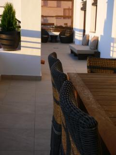 Wrap around terrace