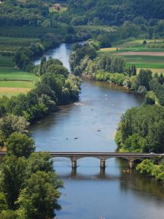 View from Domme promenade to Dordogne river