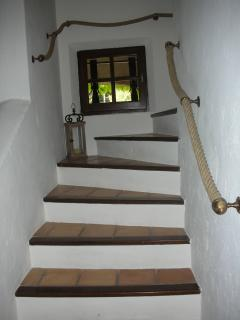 Stairs to upstairs living area, 3rd bedroom and upstairs terrace