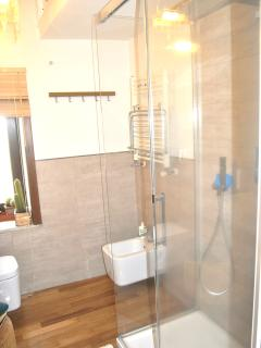 Bath with modern shower