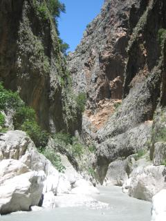Saklikent Gorge - cooling in the heat of summer
