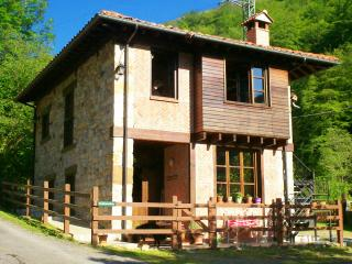 The Old School House with secluded Orchard & River in beautiful Asturias
