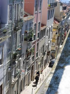 Street, view to Tejo river