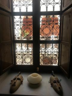 vue de la chambre sur le bhou