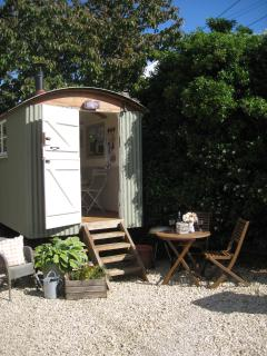 Shepherd Hut which is opposite the stable.  Great for adults and children