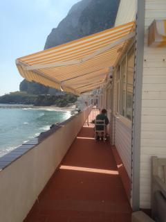 New awnings 2014, walkway to the beach